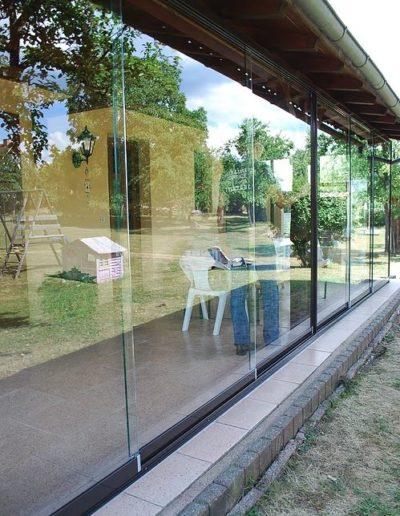 fermeture terrasse paroi de verre