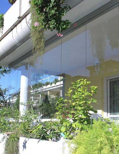Paroi de verre fermeture balcon
