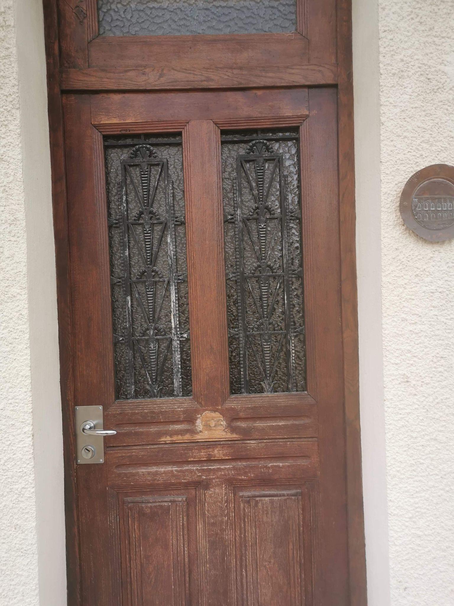 AVANT porte d'entrée bois